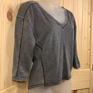 🦋 SO V-neck, 3/4 Sleeve Sweatshirt/Pullover